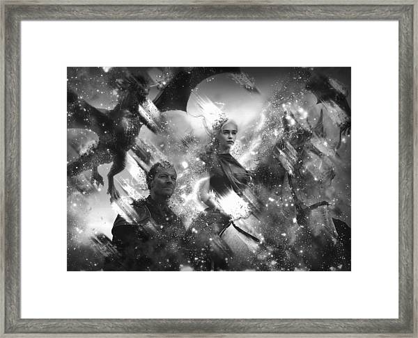 Black And White Games Of Thrones Another Story Framed Print