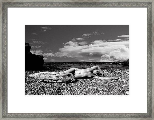 Black And White Nude 01 Framed Print