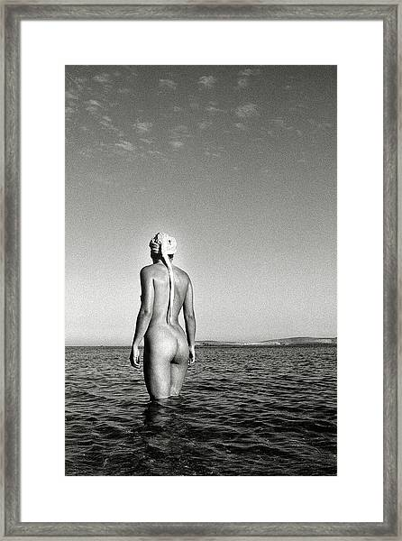 Black And White Nude 012 Framed Print