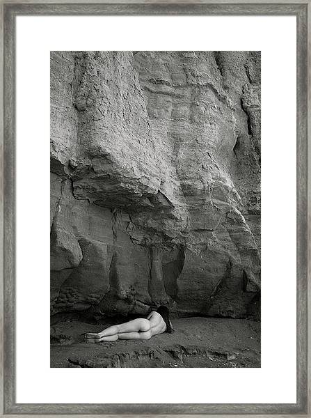 Black And White Nude 013 Framed Print