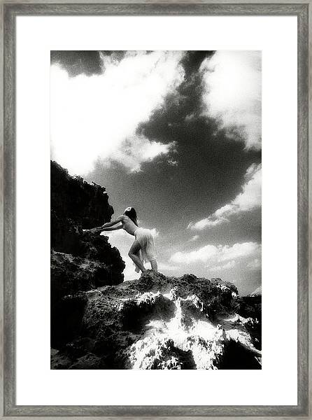 Black And White Nude 014 Framed Print