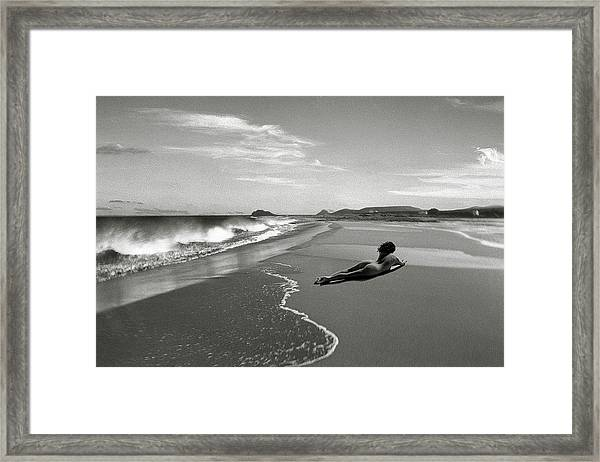 Black And White Nude 017 Framed Print