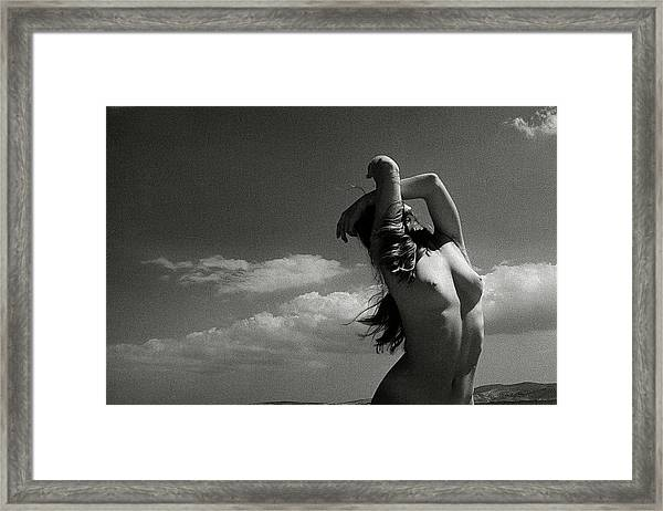 Black And White Nude 018 Framed Print