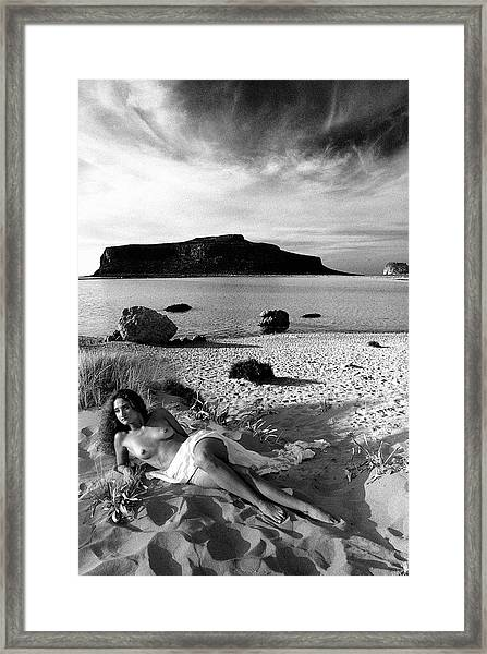 Black And White Nude 02 Framed Print