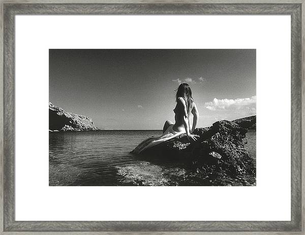 Black And White Nude 020 Framed Print
