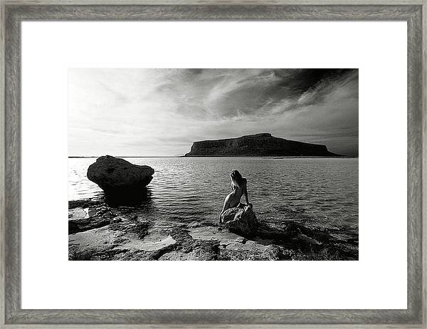 Black And White Nude 09 Framed Print