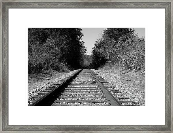 Black And White Railroad Framed Print
