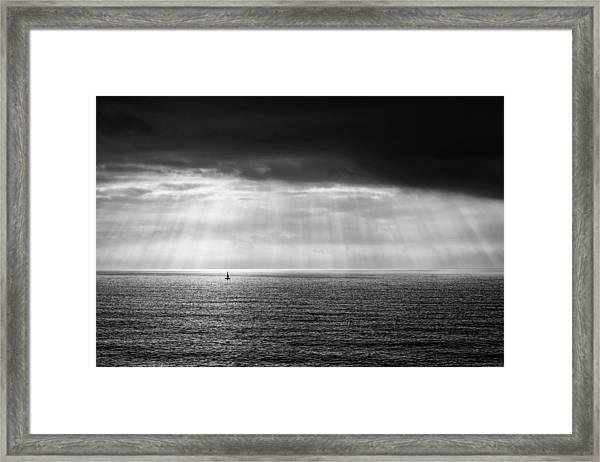 Black And White Seascape Framed Print