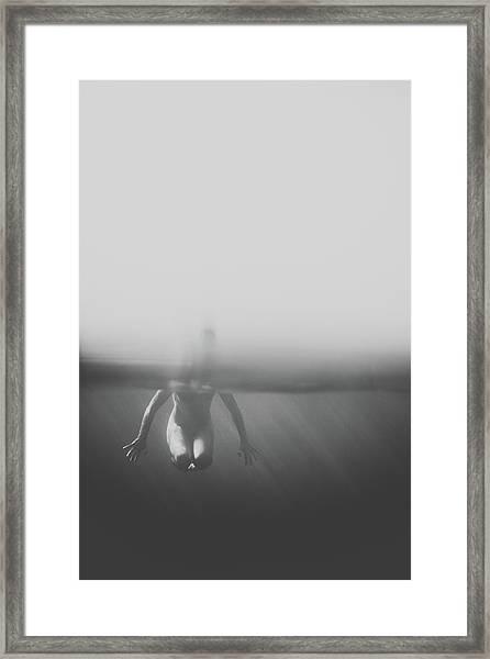 Black And White Underwater Framed Print