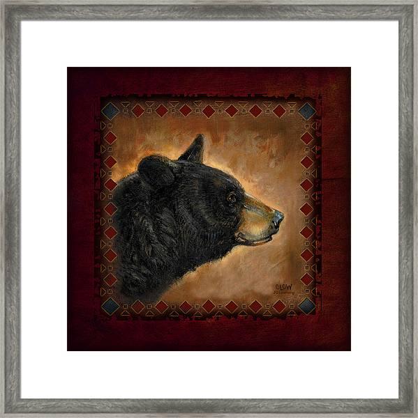Black Bear Lodge Framed Print