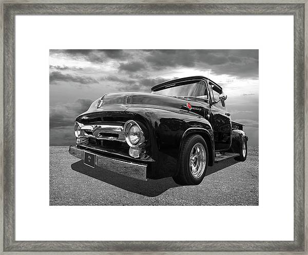 Black Beauty - 1956 Ford F100 Framed Print