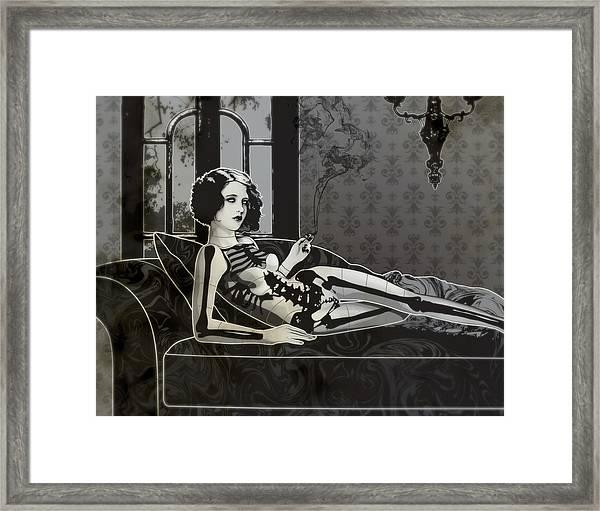 Black Blanche Framed Print
