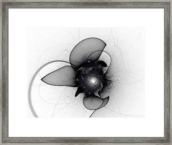 Black Bloom Framed Print