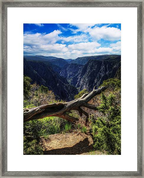 Black Canyon Of The Gunnison First Look Framed Print