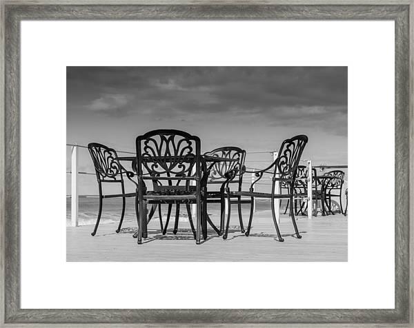Black Cast Iron Seats Framed Print