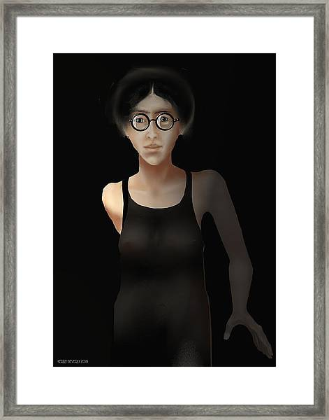 Black Dress Framed Print