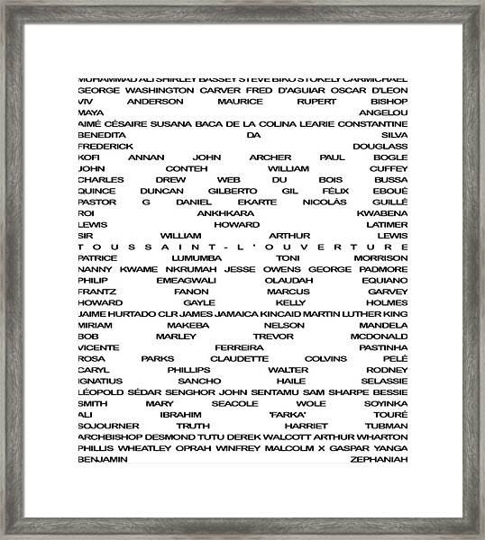 Black Excellence Framed Print