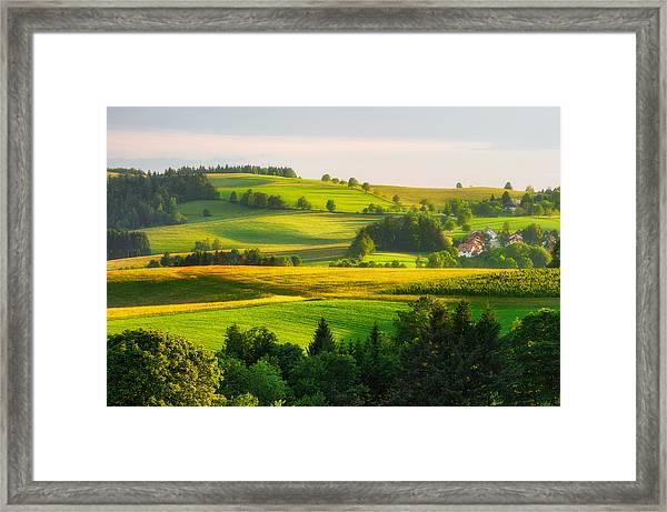 Black Forest Landscape Framed Print