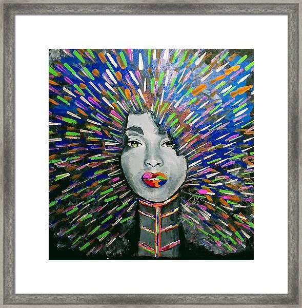 Black Girl Magic Framed Print by Vanessa Faith