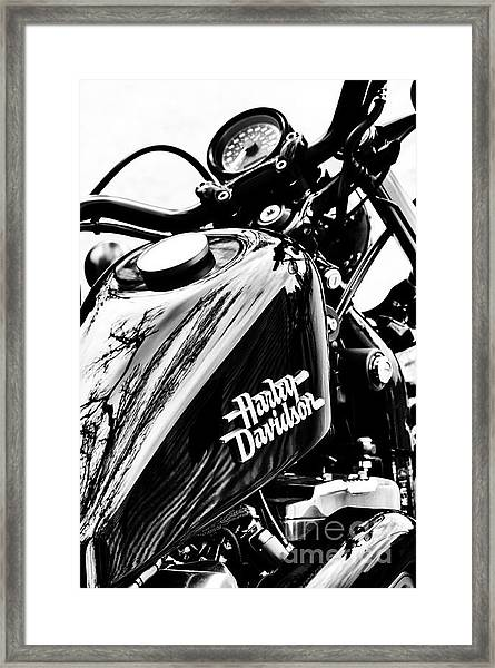 Black Harley Framed Print