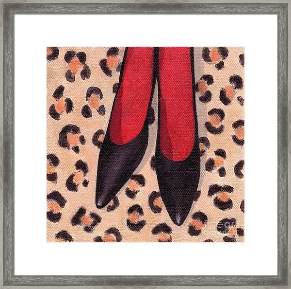 Black High Heels Framed Print