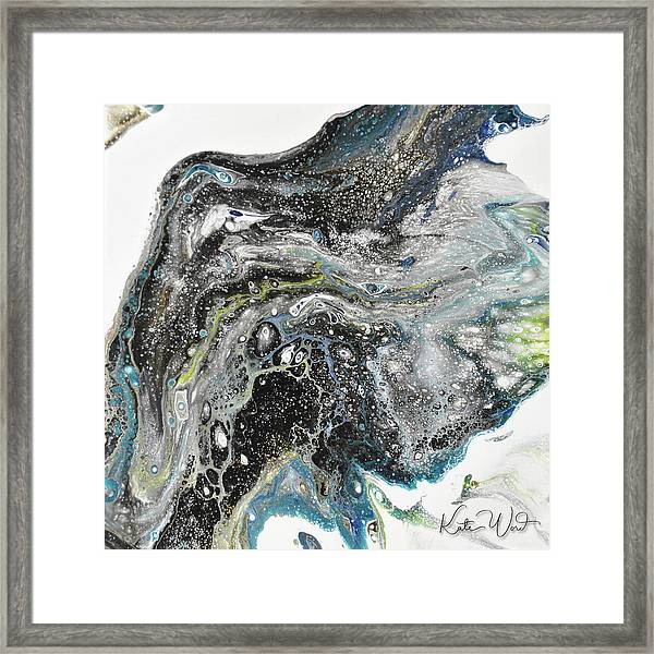 Black Ice 3 Framed Print