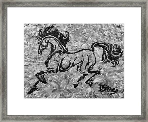Black Jack Black And White Framed Print