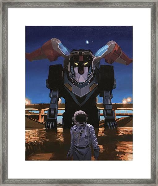 Black Lion Framed Print