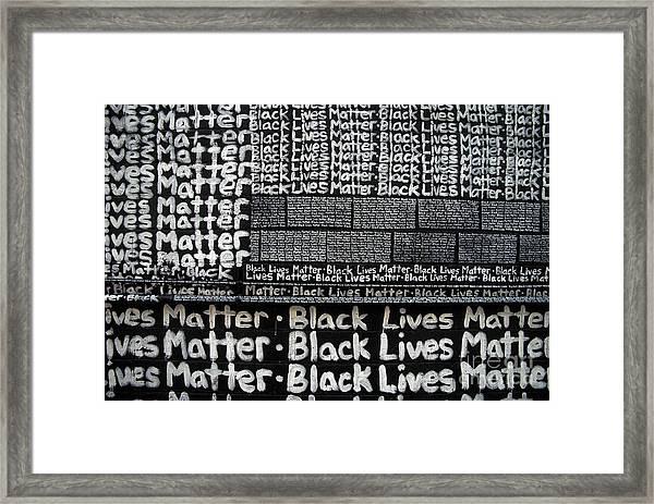 Black Lives Matter Wall Part 2 Of 9 Framed Print