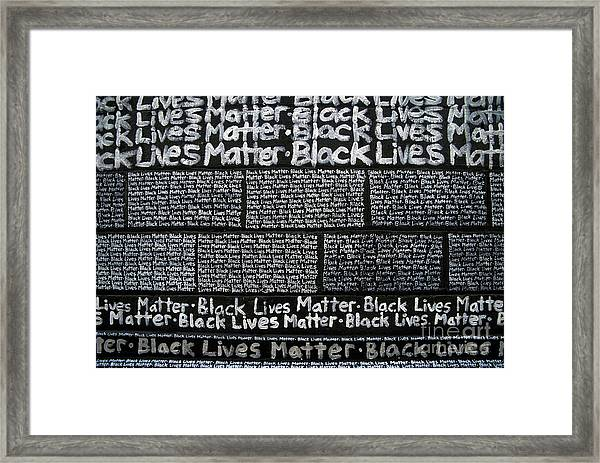Black Lives Matter Wall Part 3 Of 9 Framed Print
