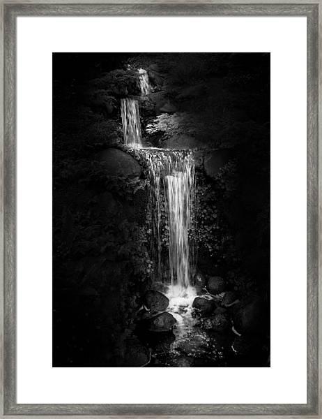 Black Magic Waterfall Framed Print