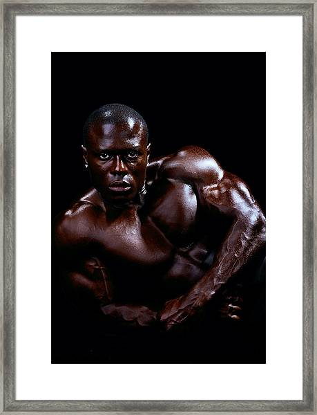 Black Male Fitness Model Framed Print