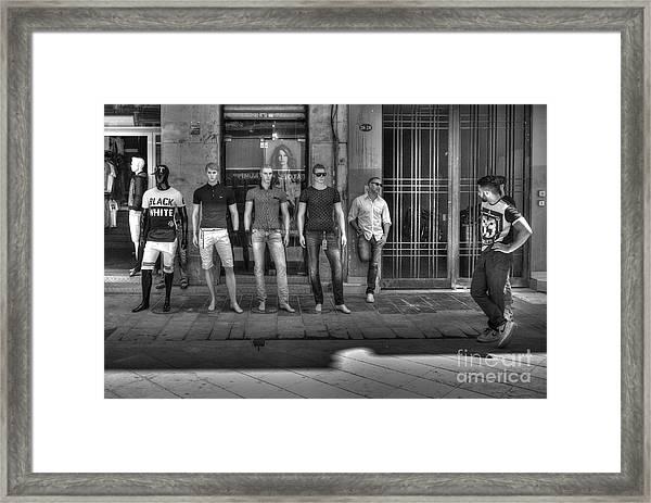 Black N White Framed Print