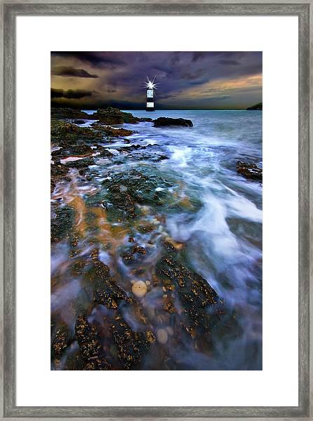 Black Point Light Framed Print