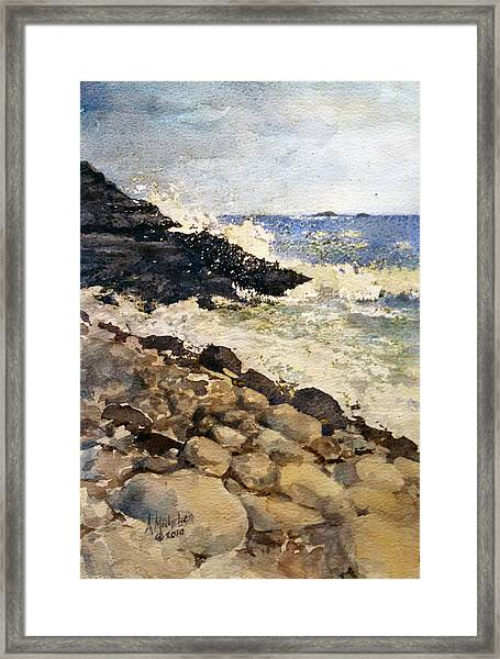Black Rocks - Lake Superior Framed Print