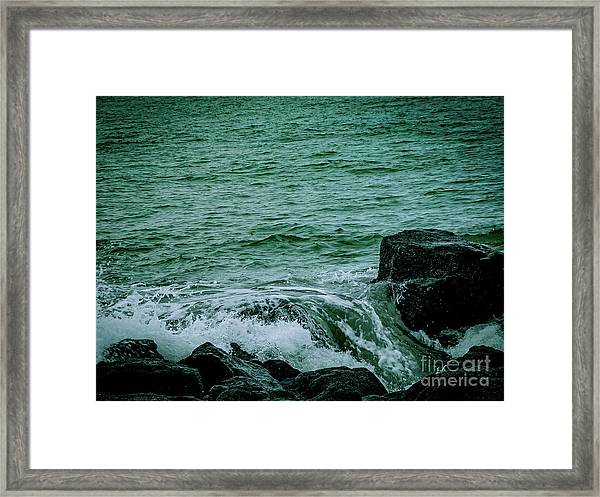 Black Rocks Seascape Framed Print