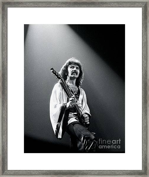 Black Sabbath 1978 Tony Iommi Framed Print by Chris Walter