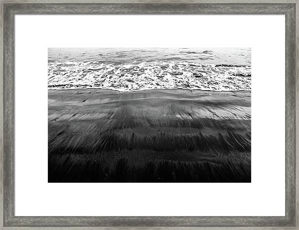 Black Sands  Framed Print