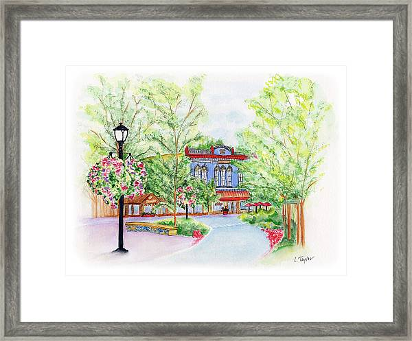 Black Sheep On The Plaza Framed Print