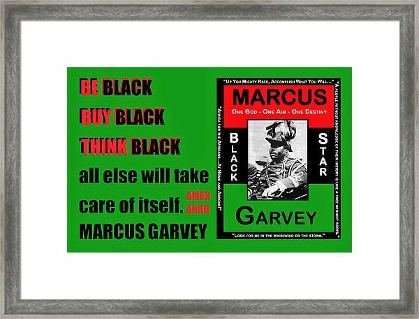 Black Star Garvey Framed Print