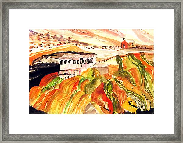 Black Waters Of The Andes Framed Print