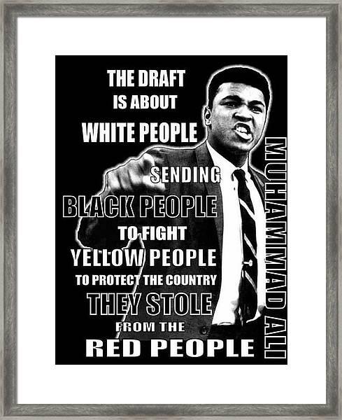 Black Yellow Red Ali Framed Print