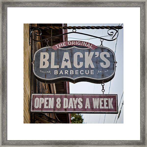 Blacks Barbecue #1 Framed Print