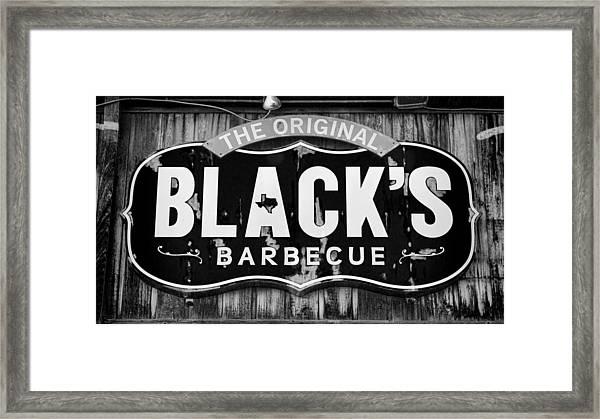 Blacks Barbecue Sign #3 Framed Print
