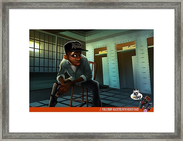 Blacksteel In The Hour Of Chaos Framed Print