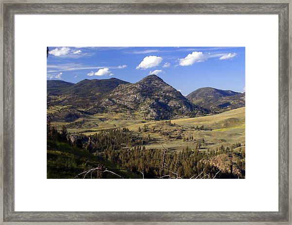 Blacktail Road Landscape 2 Framed Print