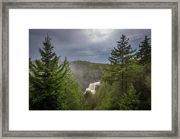 Blackwater Falls In Spring Framed Print by Michael Donahue