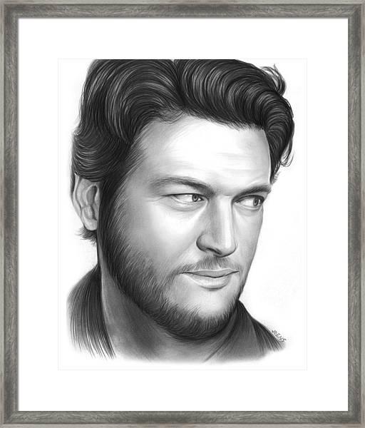 Blake Shelton Framed Print