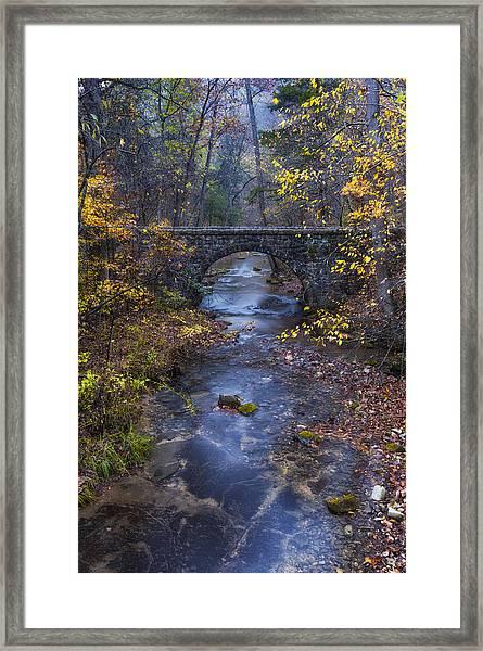 Blanchard Stone Bridge Framed Print