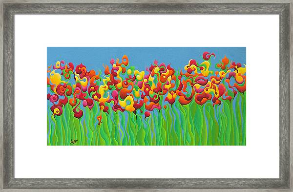 Blazing Blossom Bash Framed Print